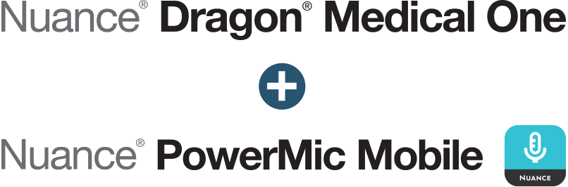 Nuance Dragon Medical One + Nuance PowerMic Mobile